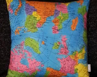 World Map Cushion!
