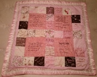Baby shower quilts