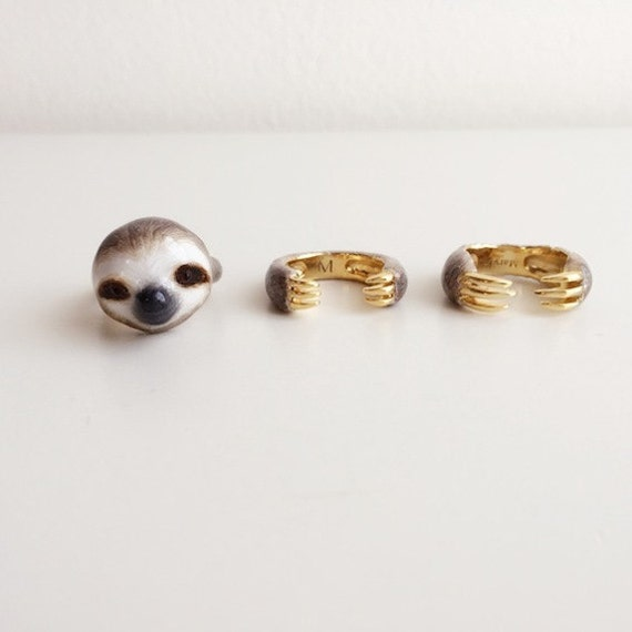 Three Piece Sloth Ring