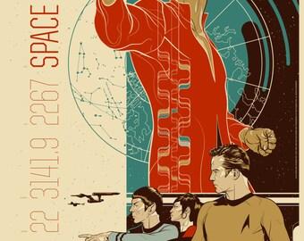Star Trek Retro A1 Poster
