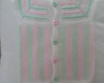 Handmade Baby Cardigan,  Crochet Baby Clothes,  Hand-Knitted Baby Clothes,  Healty Baby Clothes
