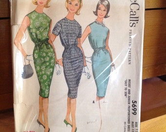 Vintage McCall's Pattern 5699. Easy! 1960's