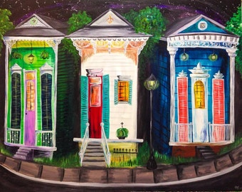 New Orleans three house painting