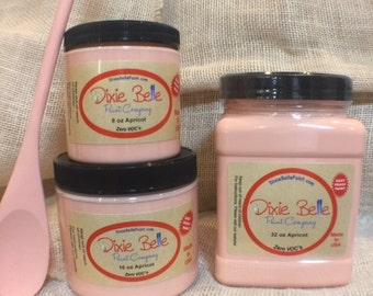 Dixie Belle Chalk Paint, Apricot, 8 oz., mineral paint, furniture paint, shabby chic paint, distressed furniture paint, no VOC paint