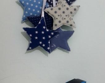 blue stars, nursery decor, Baby wall hanging, Baby boy nursery decor, Baby wall decor,baby shower gift