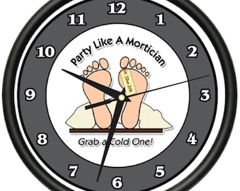Mortician Wall Clock Death Corpse Dead Rip Hospital Morgue Funeral  Gift