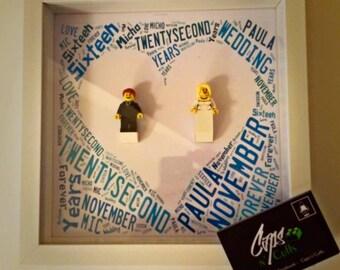 Custom LEGO Wedding Frame