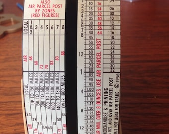 Unique vintage postal scale 1963