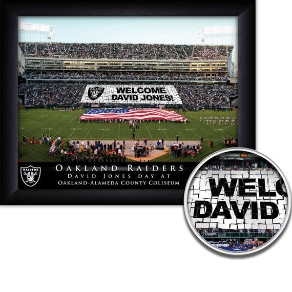 Oakland Raiders New Stadium: Oakland Raiders Personalized NFL Card Stunt Football Stadium
