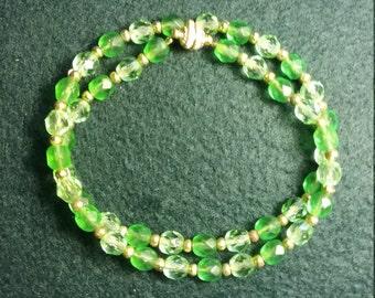Bright Green Bracelet or Choker