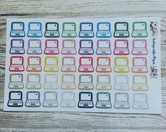 40 Glitter Laptop Planner Stickers