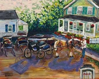 One Morning with Shorty, Mackinac Island, Horses, Horse Carriage