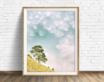 "landscape, sky, summer, instant download printable art, photography, clouds, large wall art, large art, nature, art - ""Strange Happenings"""