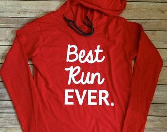Best Run Ever Lightweight Hoodie