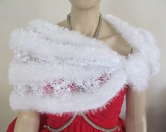 Bridal Shawl, Wedding Shawl, Wool shawl, Hand crochet wool shawl, Triangular shawl, Swahl with pearls, White shawl, Night shawl,67