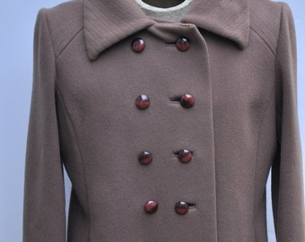 Vintage Wool Coat  1960's      Made in  the USA