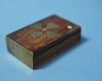 Fine Old Wooden Jewely Box Decorative Storage  DSC_00199