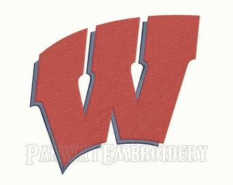 7 Size Wisconsin Badgers Logo Embroidery Designs, Machine Embroidery Designs, College Football Embroidery Designs - INSTANT DOWNLOAD