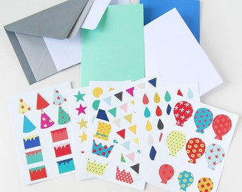 Kit cards to create birthday