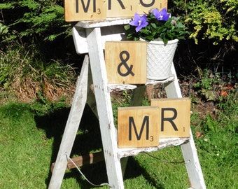Mr and Mrs scrabble Blocks