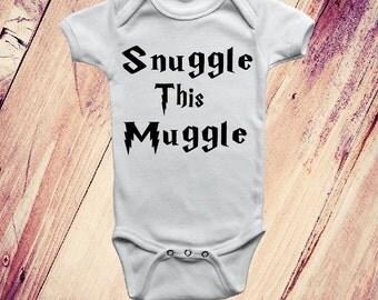 Snuggle This Muggle, Harry Potter Onesie, Unisex Onesie, Muggle Onesie, Harry Potter Baby