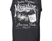 Smoky Mountain Tank Top Moonshine American Made Tennessee Whiskey Drinking Top 100033-TT