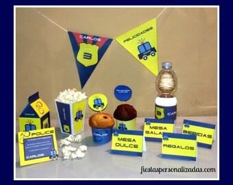 Child model police birthday party Kit