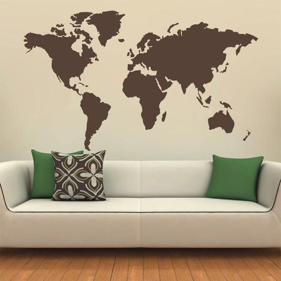 map of the world silhouette wall decal globe wall decal wall aliexpress com buy colorful world map wall sticker large