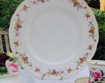 Beautiful Large Floral Gainsborough Vintage Cake Plate