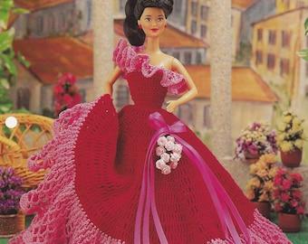 Magic Moments Gown, Annie's Fashion Doll Crochet Pattern Club Leaflet FCC06-01