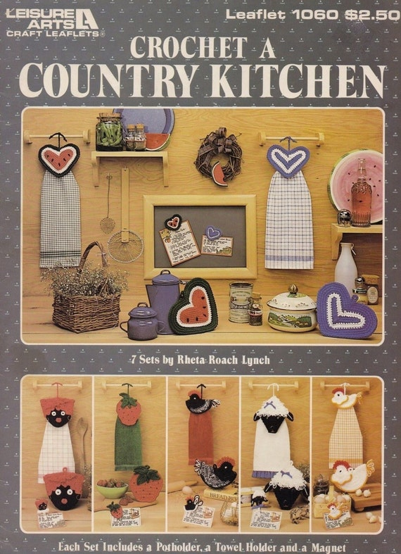 Crochet a Country Kitchen Leisure Arts Home Decor Crochet