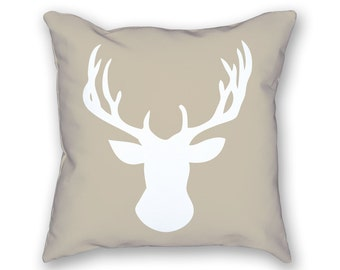 Christmas Pillow – Deer Pillow, Holiday Pillow