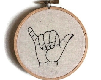 Surfs Up Hand Embroidery