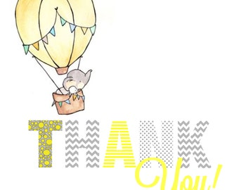 Baby Shower : Thank You Card