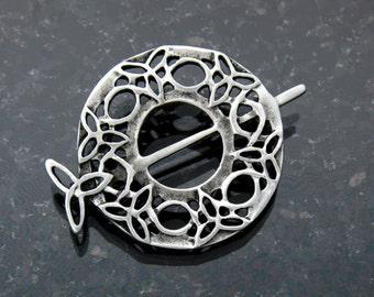 Celtic Trinity Tara Brooch/Scarf/Shawl Pin (Rpew38)