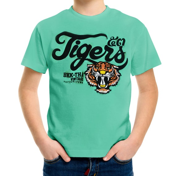 TepThaiTewa : Tiger Vintage Style Boys' T-Shirt