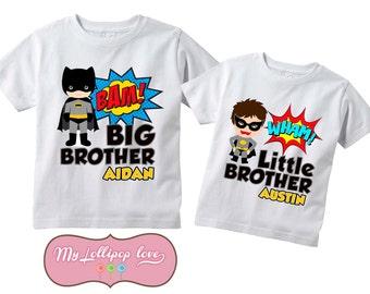 Big Brother Little Brother -Batman and Robin Sibling Shirt Set