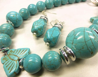 Turquoise set in large format