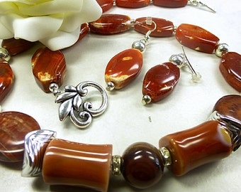 Fire agate set in stunning style