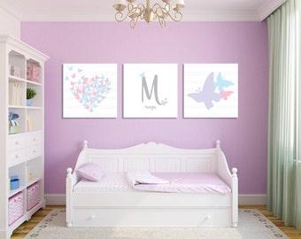 butterfly bedroom. Butterfly Girl s Room Wall Art  Nursery Heart Decor room decor Etsy