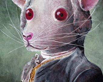 Mouse Art - Mouse Illustration - Art Prints - Nursery Art Prints - Wall Art - Children's Art - A4