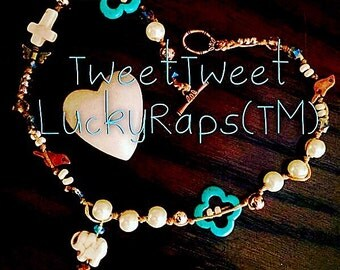 LuckyRaps(TM) Lucky In Love double wrap bracelet by SpaceHippy(TM)