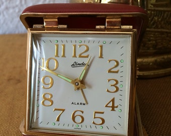 Linden Vintage Travel Alarm Clock