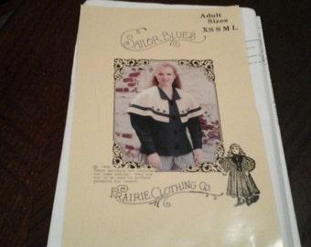 Prairie Clothing Company Sailor Blues Adult sizes Xs-Lrg