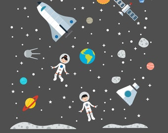 Space Wall Decals, Space Wall, Space Wall Decal - Large