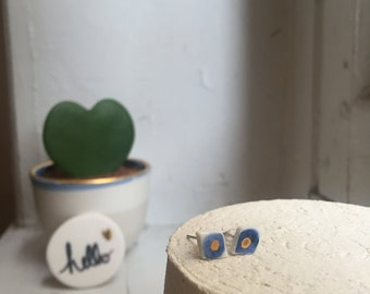 Earring made of porcelain jewelry-handmade - clean - made in France
