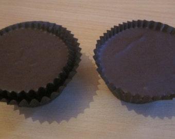 2 Sundance, Raw, Vegan, Sugar Free Large Chocolate/Cacao Hemp Butter Cups/Cakes