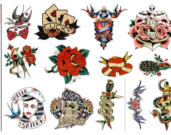 Vintage Rockabilly II - Temporary Tattoos