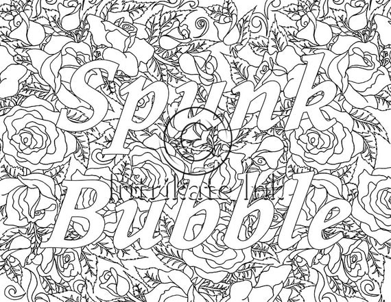 spunk bubble swear coloring page sweary swear by intrikateink