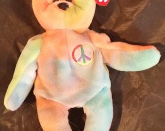 Peace Bear - Ty beanie baby